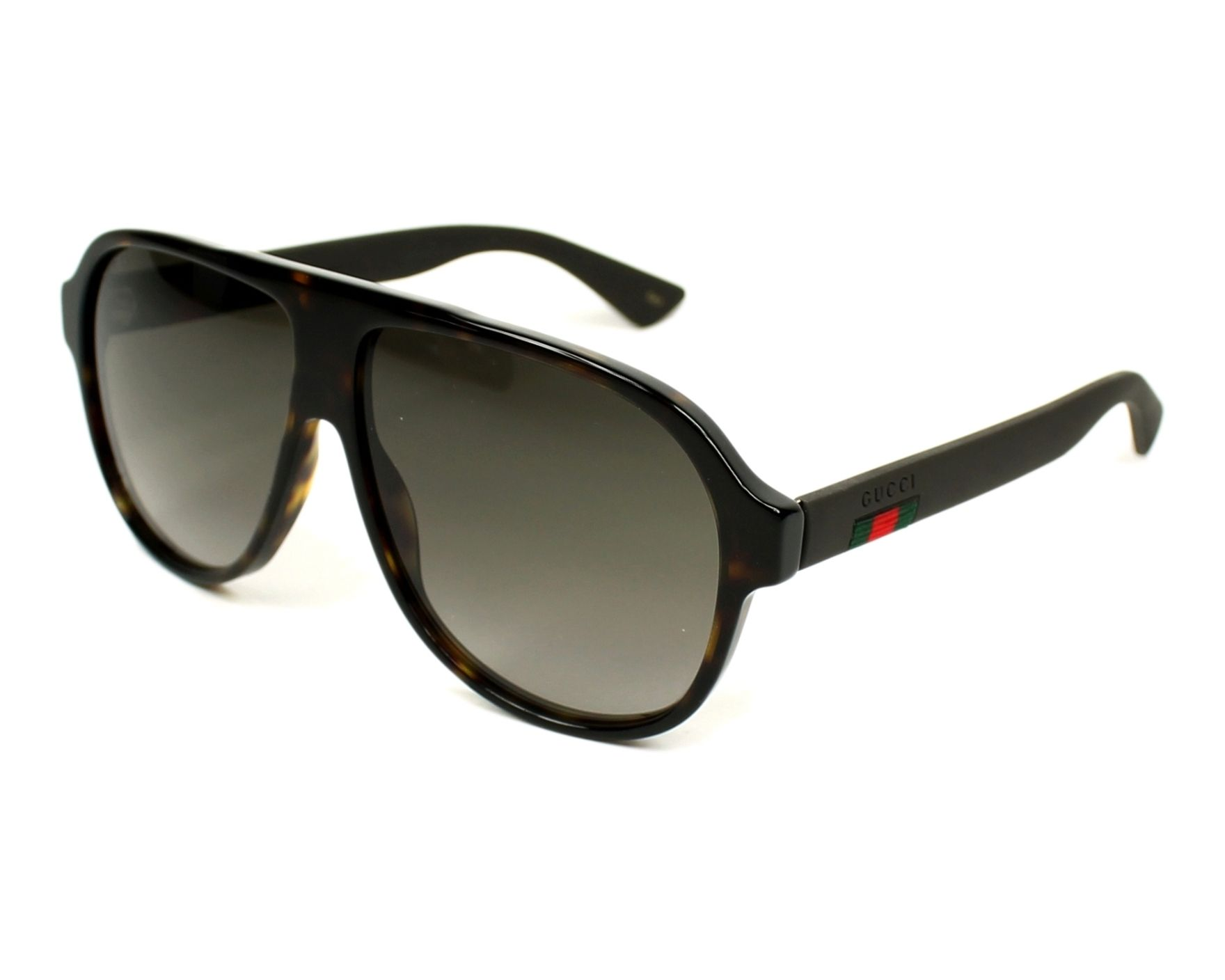 Gucci Sunglasses Havana With Grey Lenses Gg 0009 S 003 Visionet Us