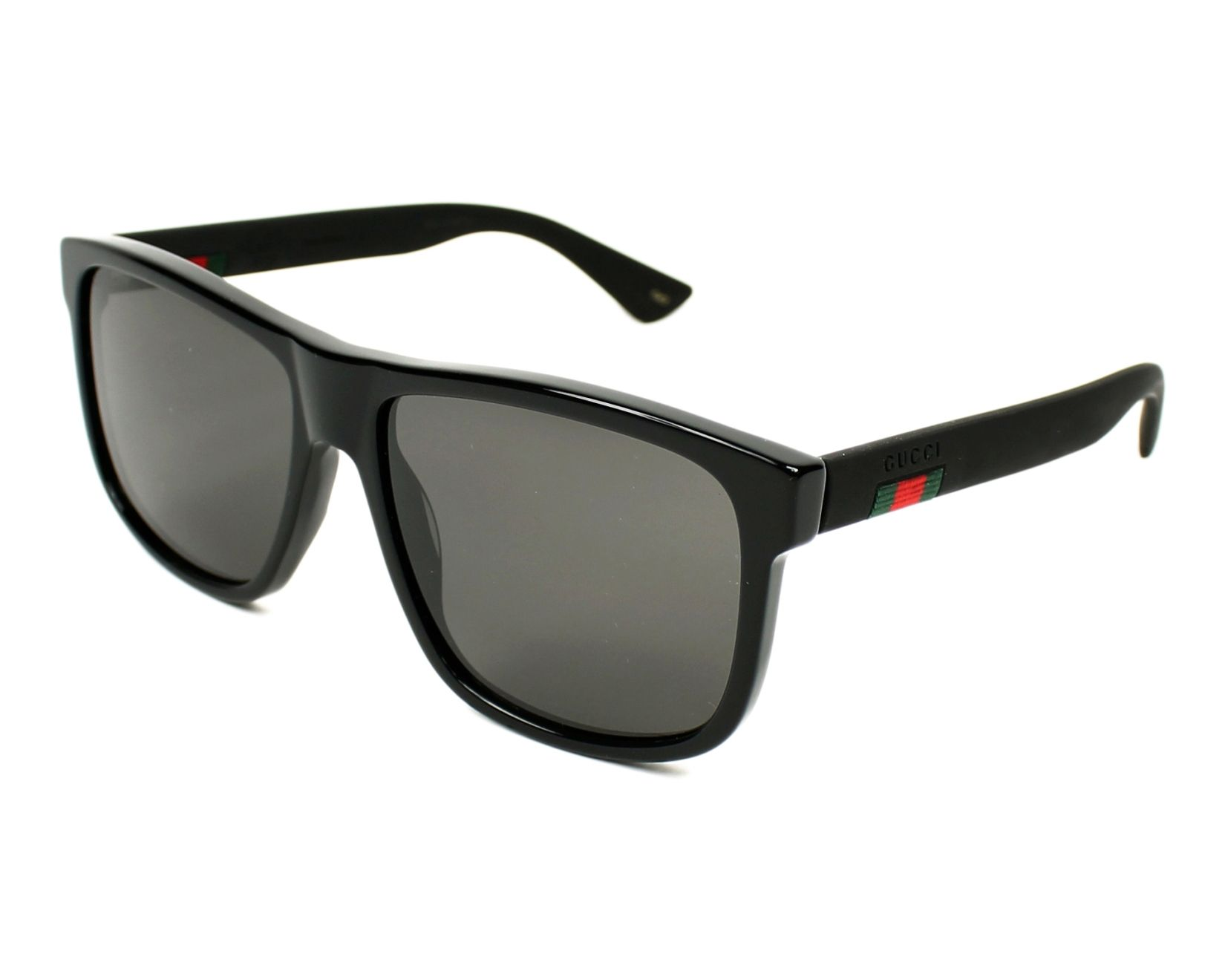 f68056a3de3 Sunglasses Gucci GG-0010-S 001 58-16 Black Black profile view