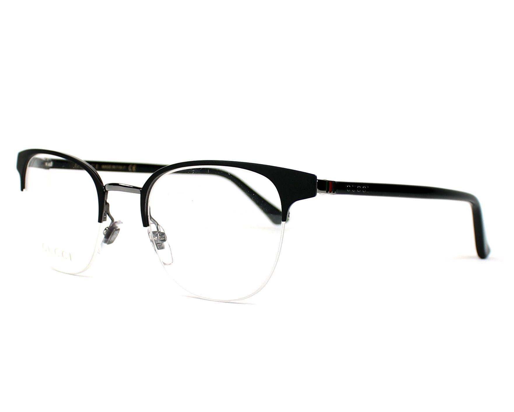 784c768aa4f eyeglasses Gucci GG-0020-O 001 49-21 Black Gun profile view