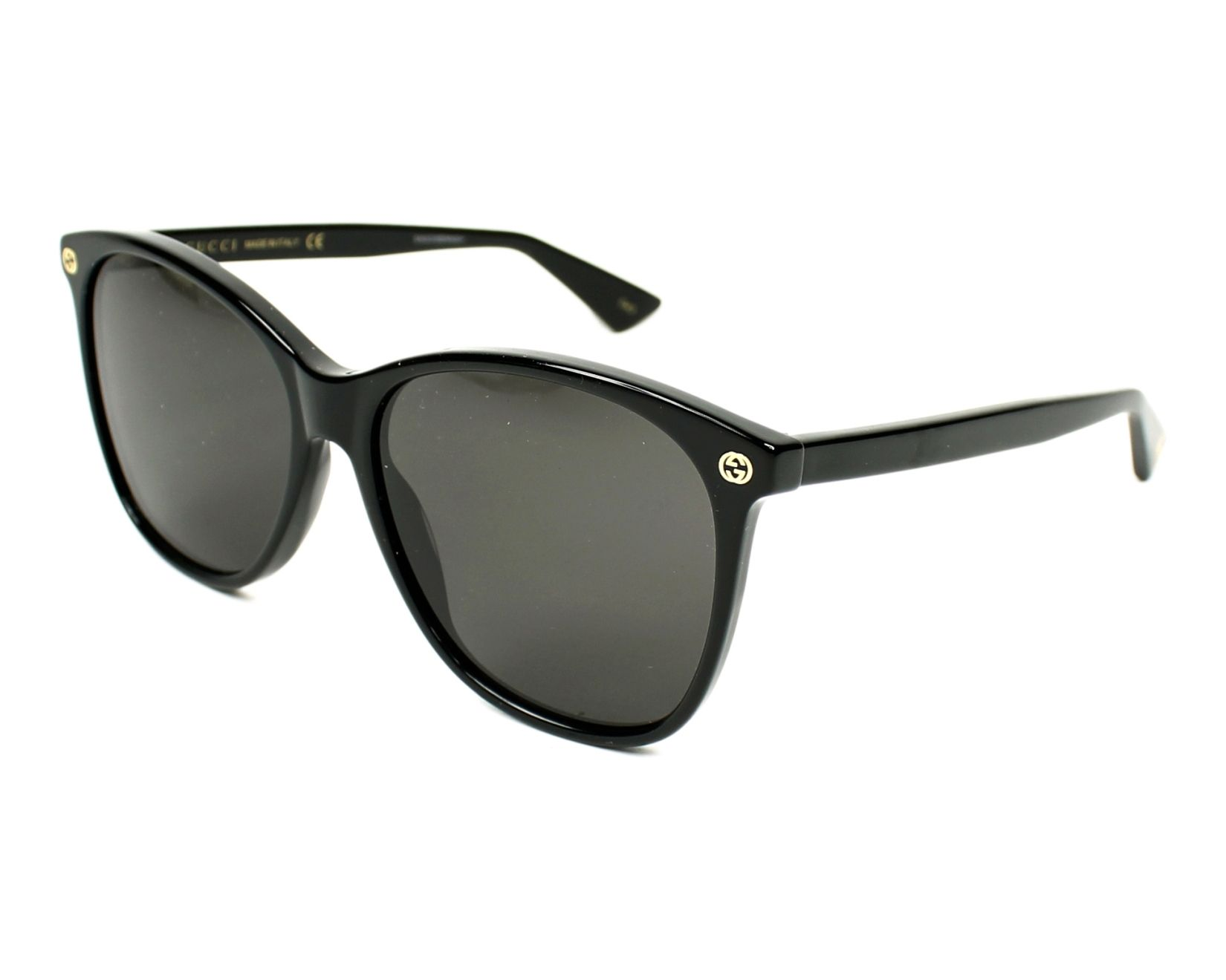 Gucci Sunglasses Black with Grey Lenses GG-0024-S 001 - Visionet US