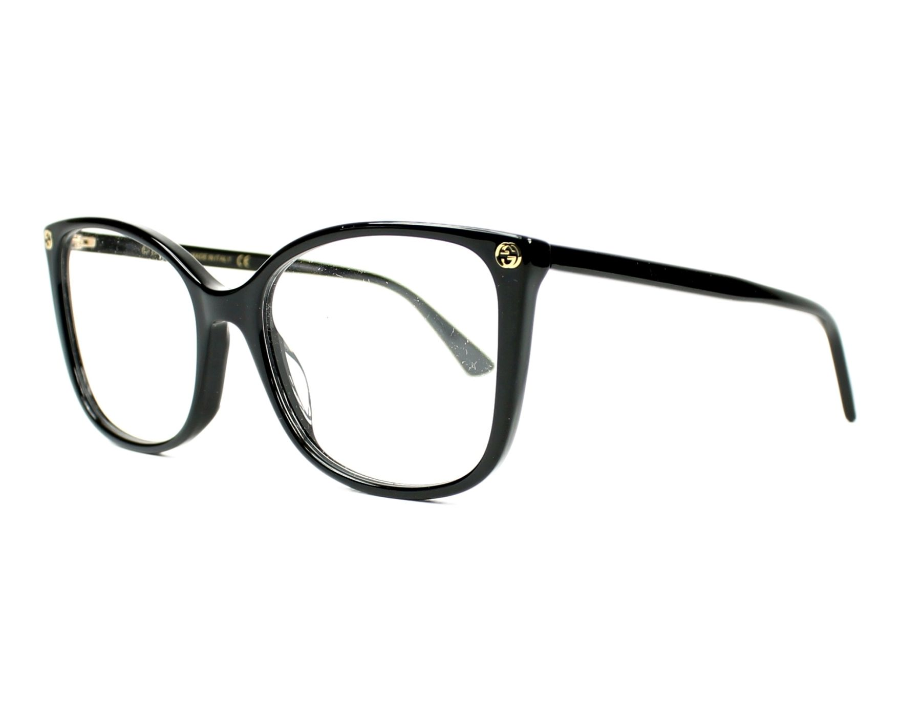 c66c01cc85f eyeglasses Gucci GG-0026-O 001 53-17 Black profile view