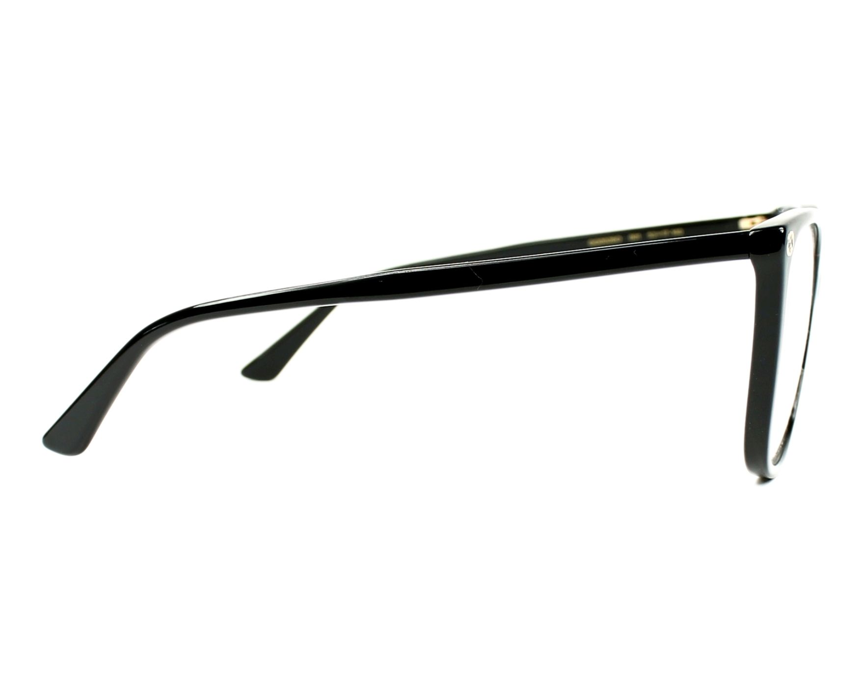 a22dc5e2e7f eyeglasses Gucci GG-0026-O 001 53-17 Black side view