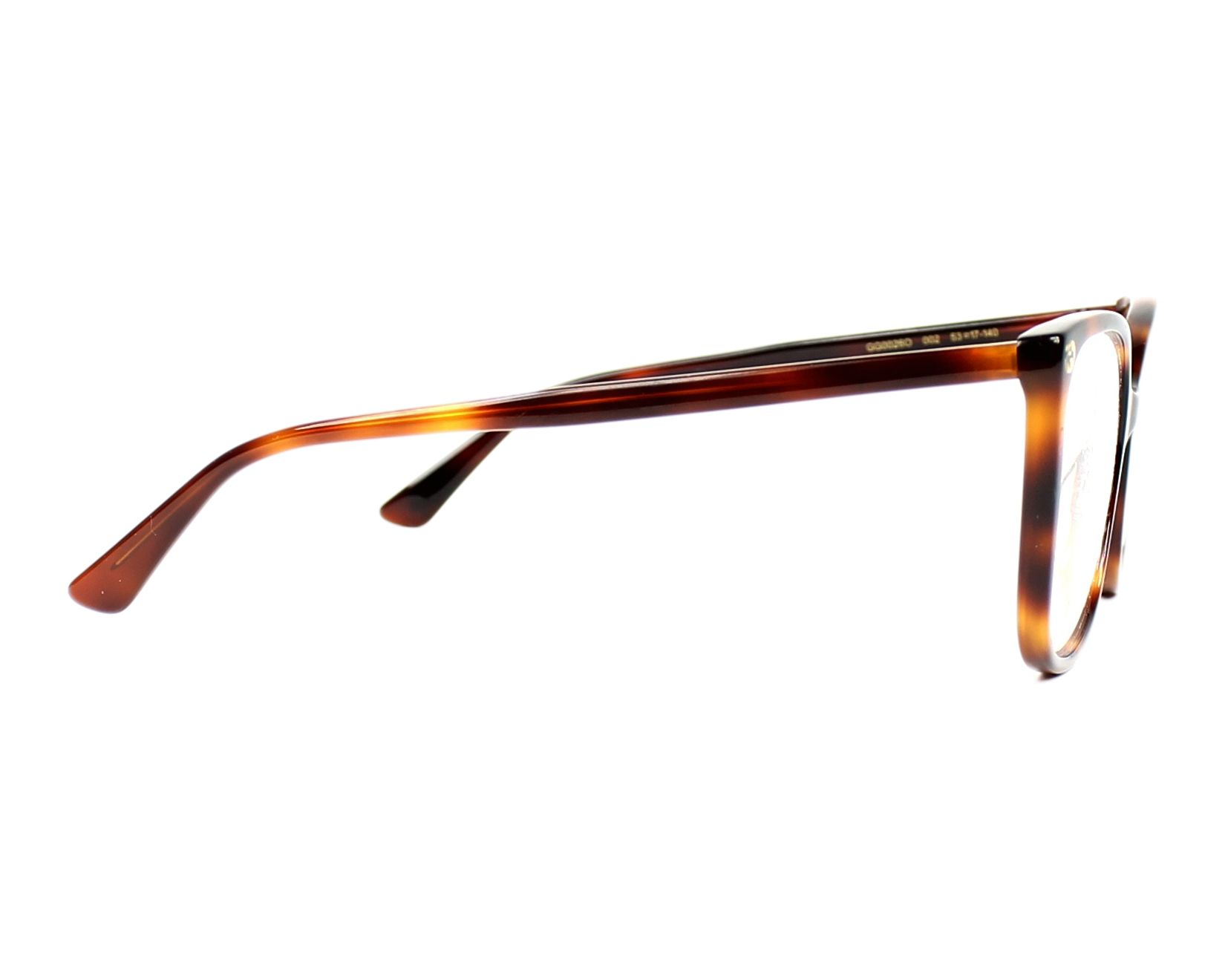 29b0a147a0e eyeglasses Gucci GG-0026-O 002 53-17 Havana side view
