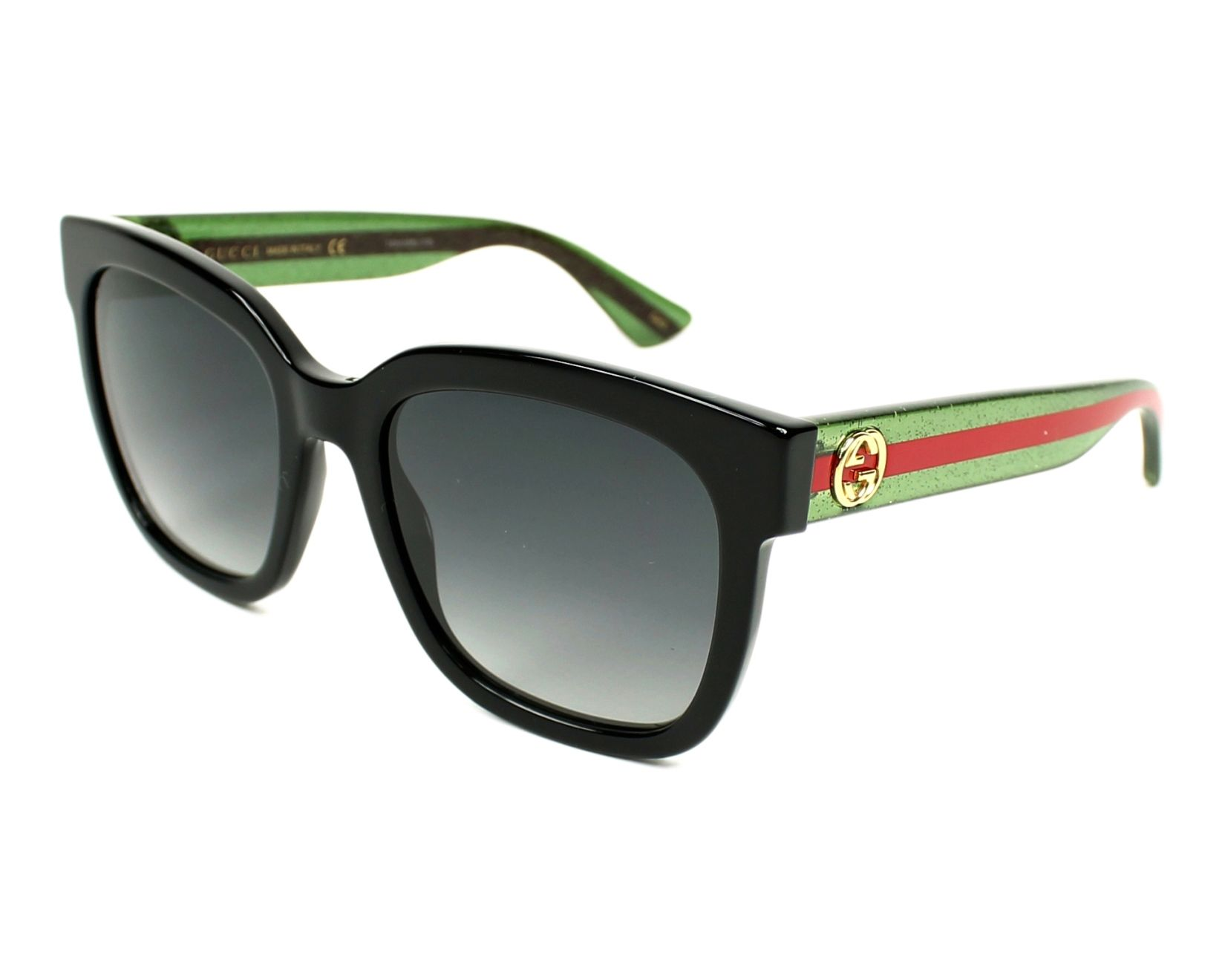 Gucci Sunglasses Black With Grey Lenses Gg 0034 S 002 Visionet Us
