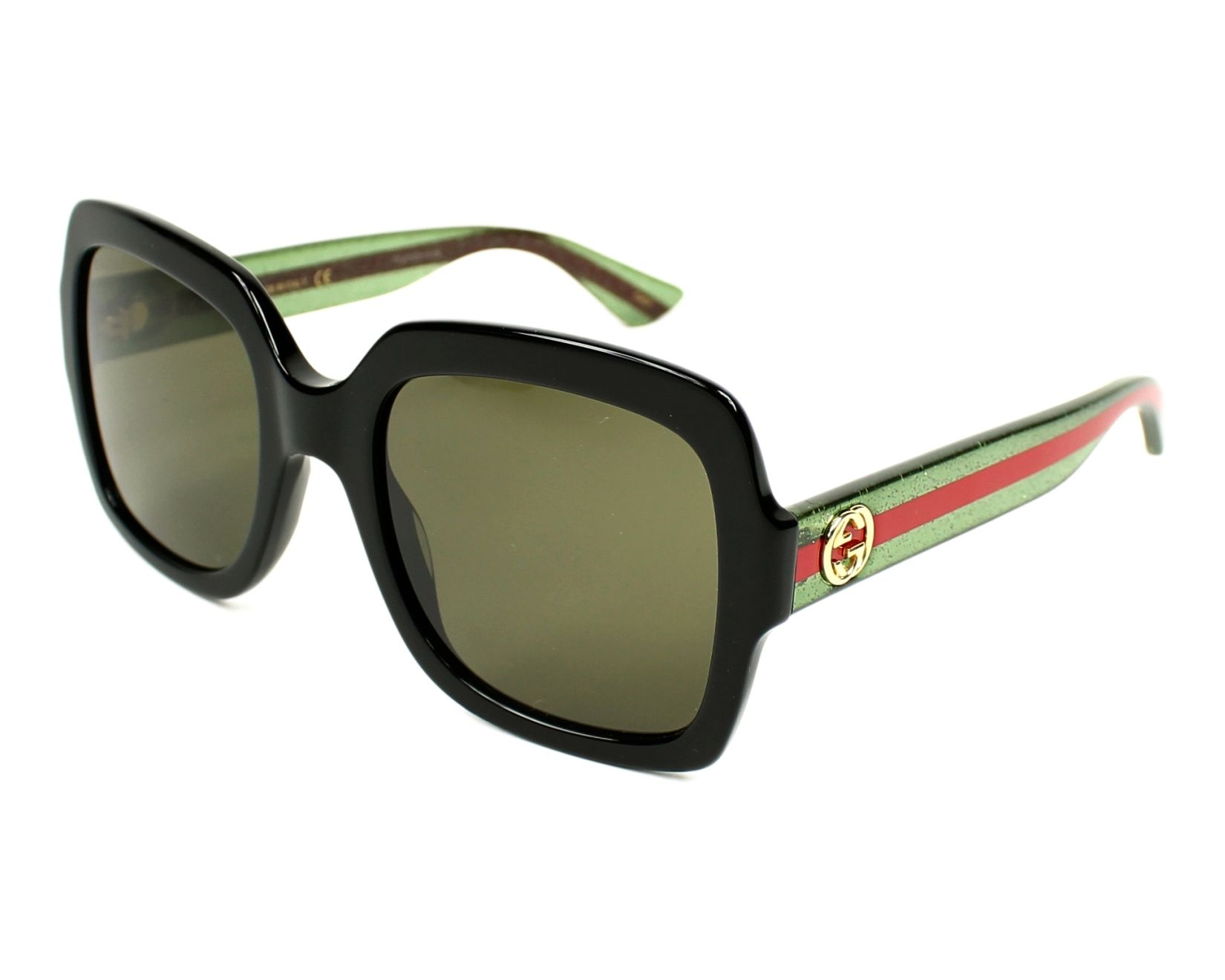 1278b576b85 Gucci Sunglasses GG-0036-S 002 54-22 Black Green