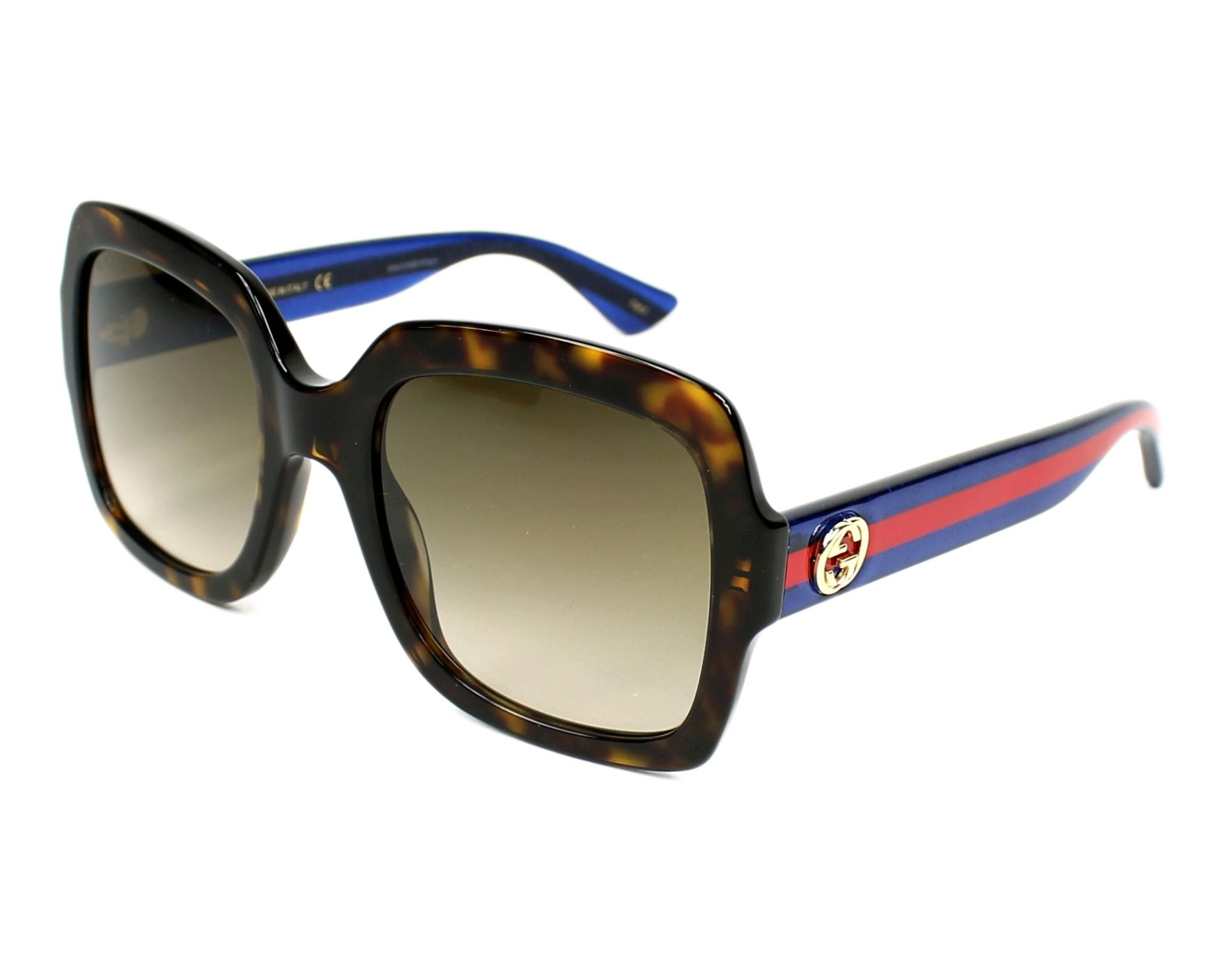 Gucci Sunglasses Havana With Brown Lenses Gg 0036 S 004 Visionet Us