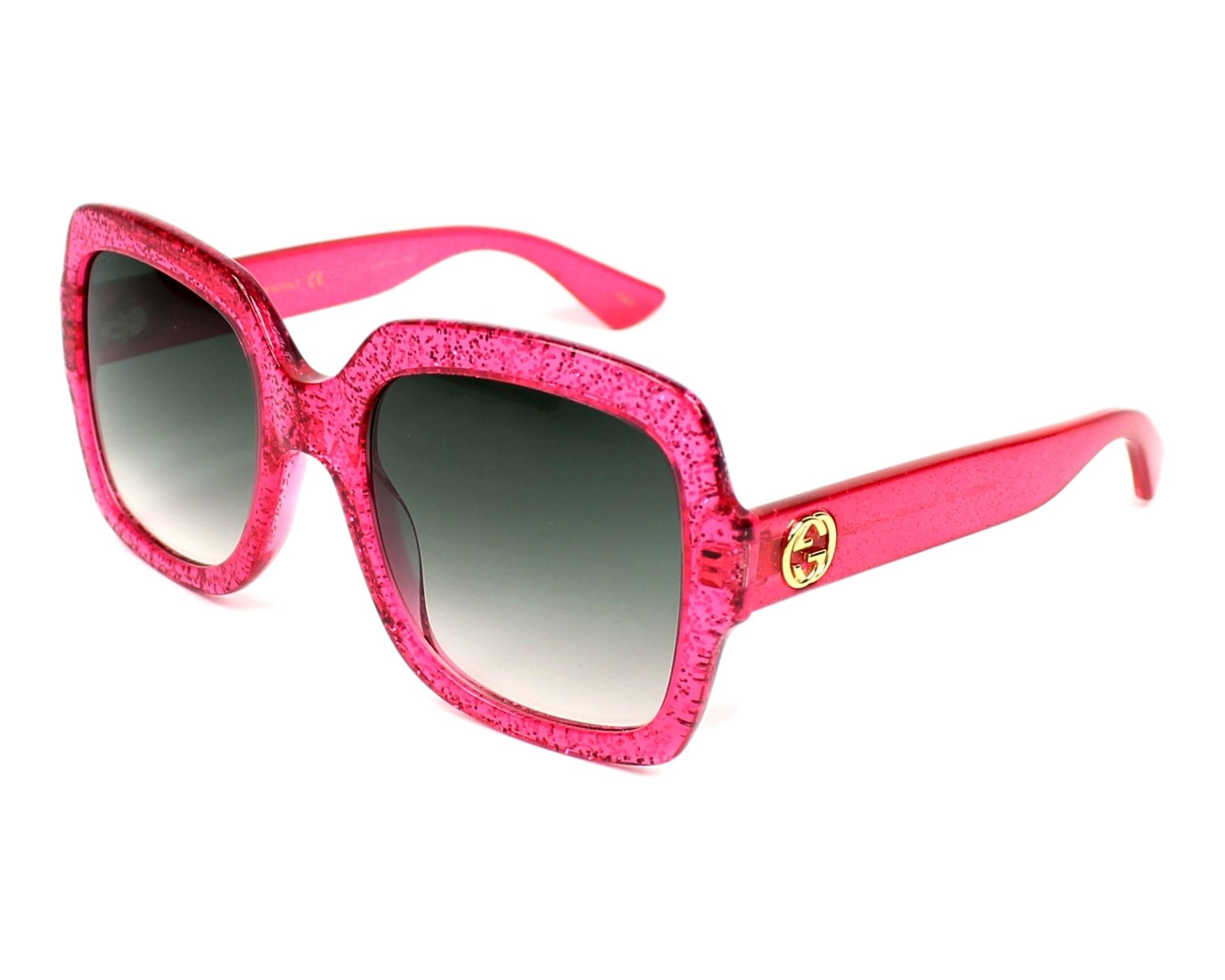 98a40aa429 Sunglasses Gucci GG-0036-S 007 54-22 Pink profile view
