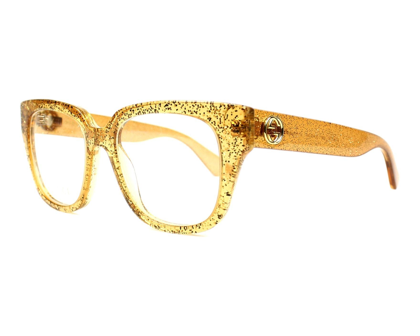 0656794d7dd ... Sunglasses 3675 Frame Black Embossed Gold. Buy Gucci Eyeglasses GG-0037-O  006 Online - Visionet