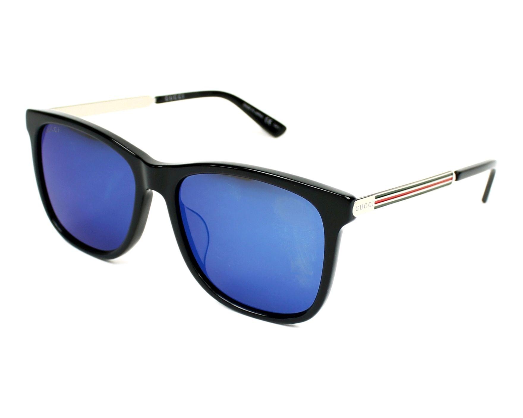 Gucci Sunglasses GG-0078-SK 001 56 17 Black Silver 1026d567ab