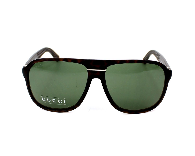 1fa8272442d thumbnail Sunglasses Gucci GG-1076-NS QXG 85 - Havana front view