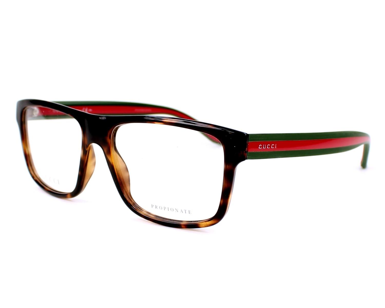 4d5cc56ace4f Eyeglasses gucci havana green profile view jpg 1500x1200 Gucci eyeglasses  men