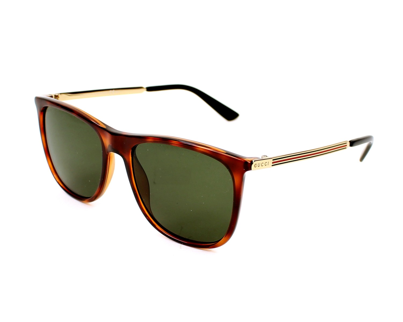thumbnail Sunglasses Gucci GG-1129-S QWP/1E - Havana Gold profile view