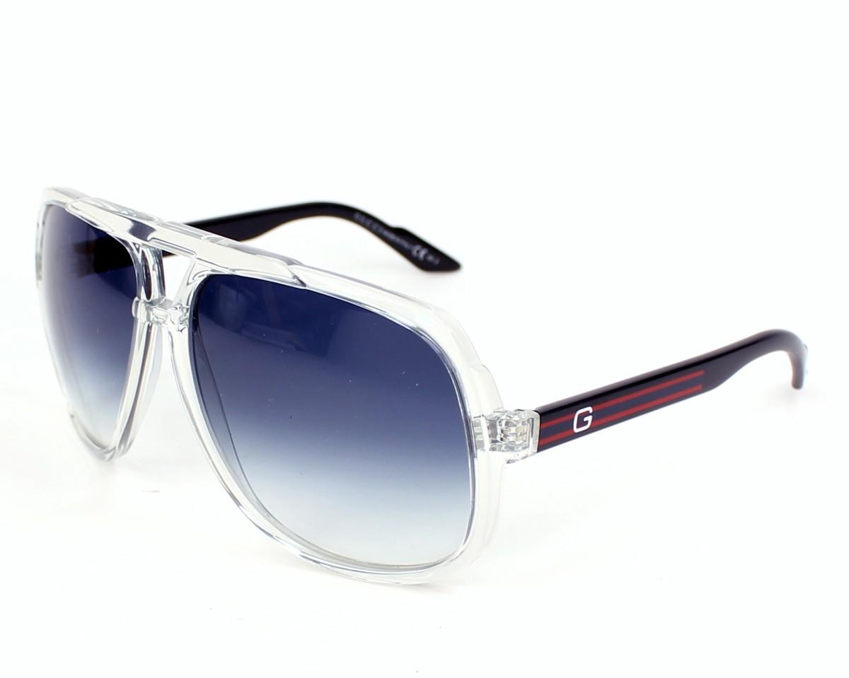 45b3f324d01 thumbnail Sunglasses Gucci GG-1622-S U75 08 - Crystal Blue profile view