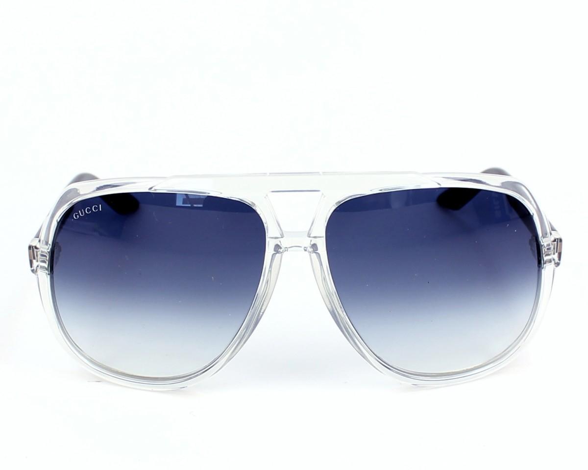 6e394b960da thumbnail Sunglasses Gucci GG-1622-S U75 08 - Crystal Blue front view