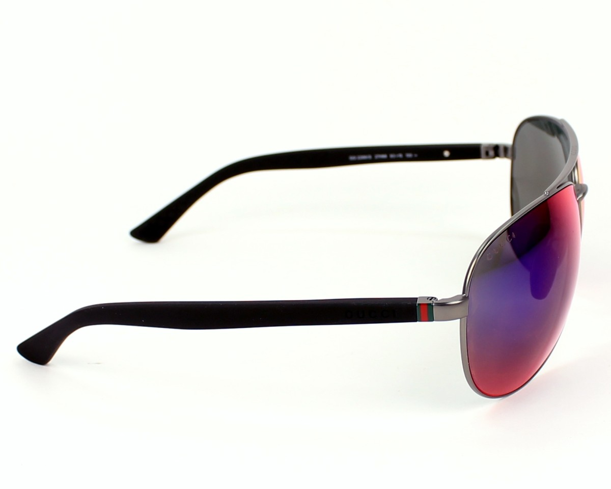 thumbnail Sunglasses Gucci GG-2266-S 27H/MI - Silver Black side view