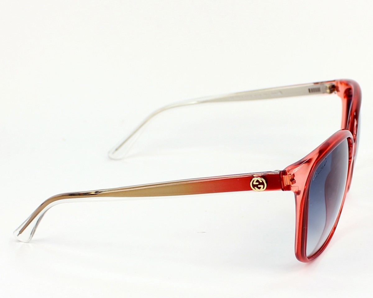 3e64625a2ce thumbnail Sunglasses Gucci GG-3696-S IUQ 08 - Red Crystal side view