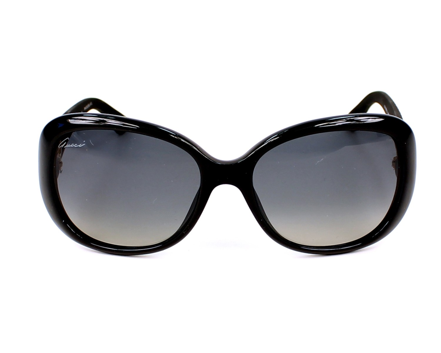 fe4cf344f6 thumbnail Sunglasses Gucci GG-3787-S LWD DX - Black front view