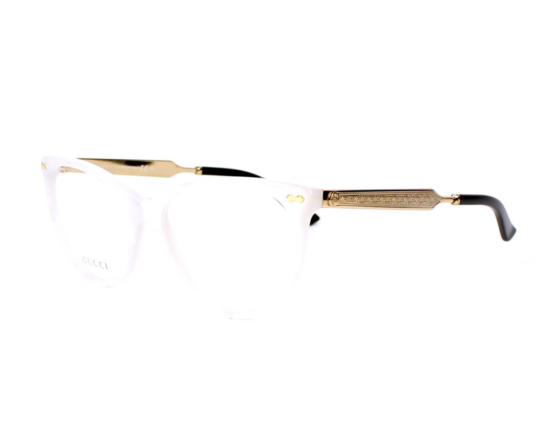 58360907ed eyeglasses Gucci GG-3818 U29 - White Gold profile view