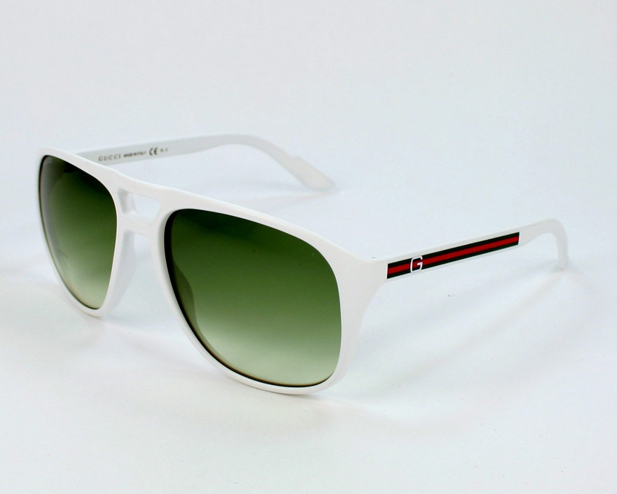 5fd702ab5a thumbnail Sunglasses Gucci GG-1018-S VK6 NC - White profile view