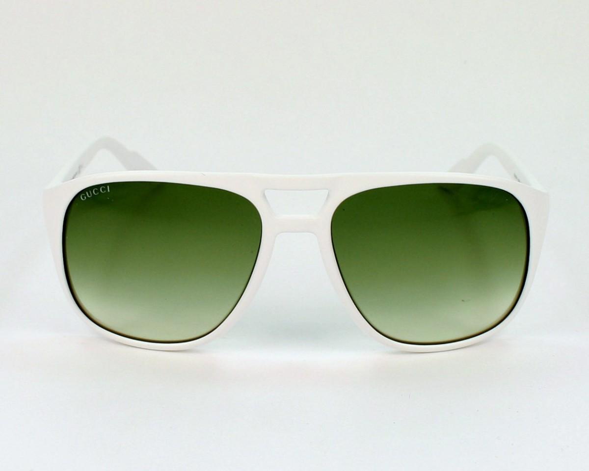 280070f795 thumbnail Sunglasses Gucci GG-1018-S VK6 NC - White front view