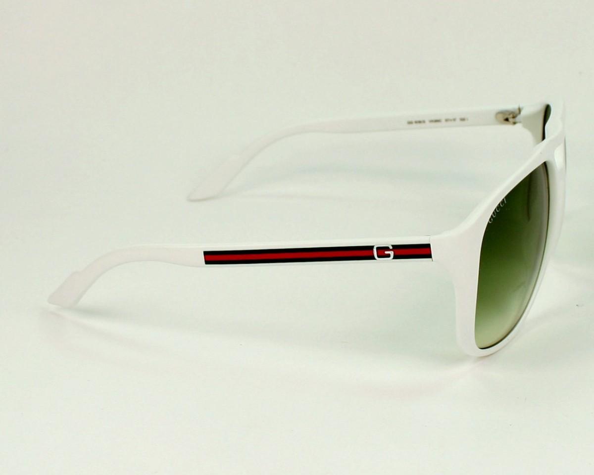 e0383945d7 thumbnail Sunglasses Gucci GG-1018-S VK6 NC - White side view