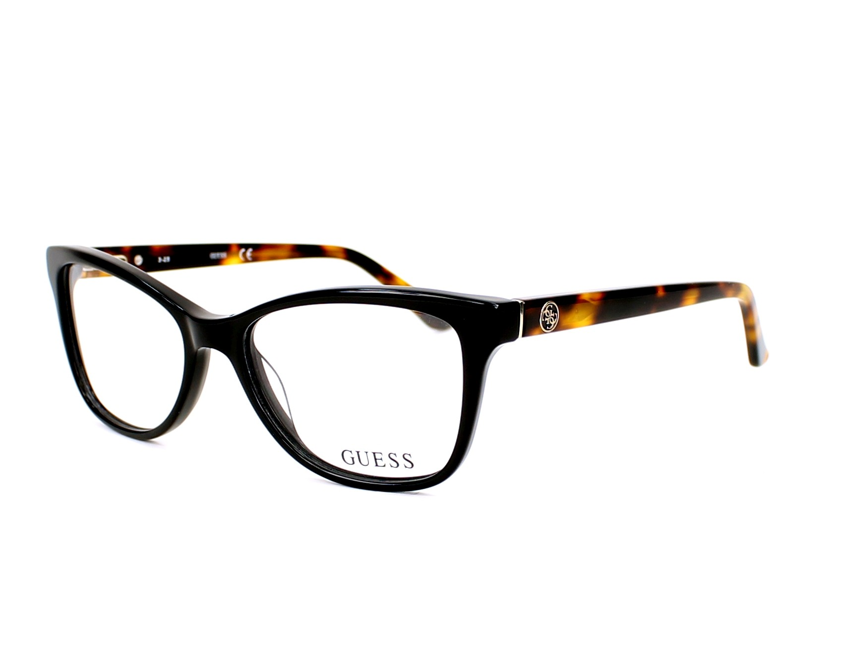 Guess Eyeglasses Black GU-2536 001 - Visionet US