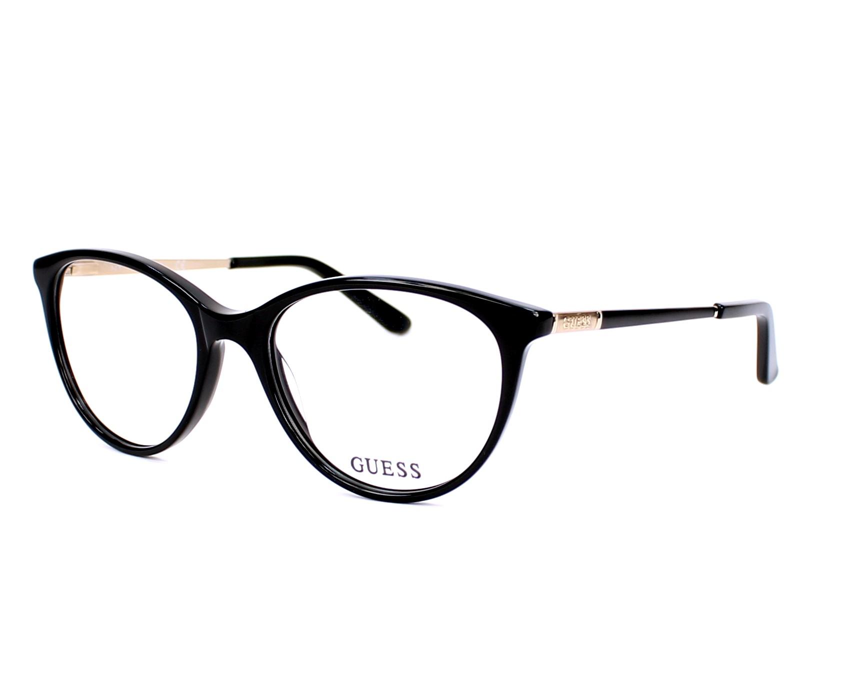 9280bc3b203 eyeglasses Guess GU-2565 005 52-17 Black Gold Copper profile view