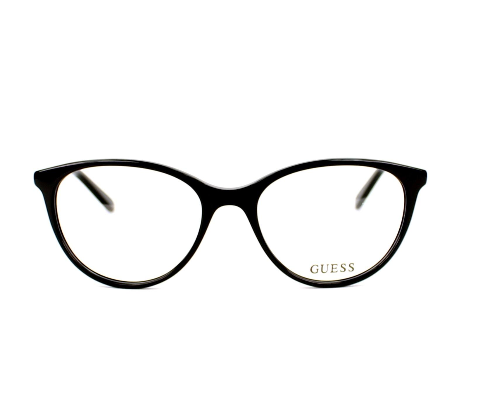 a0630650eba eyeglasses Guess GU-2565 005 52-17 Black Gold Copper front view