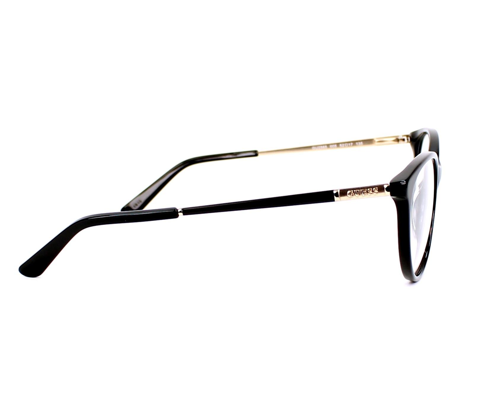 7633412e865 eyeglasses Guess GU-2565 005 52-17 Black Gold Copper side view