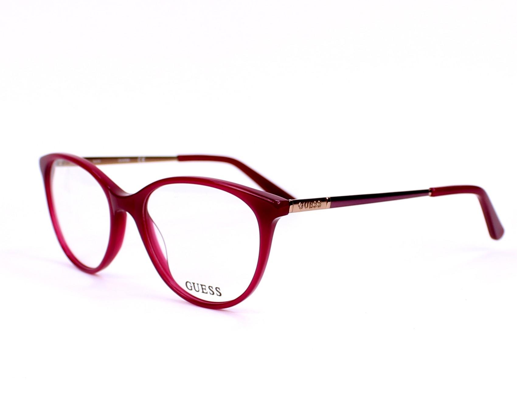 cb33076d5ee eyeglasses Guess GU-2565 075 52-17 Fuchsia Pink profile view