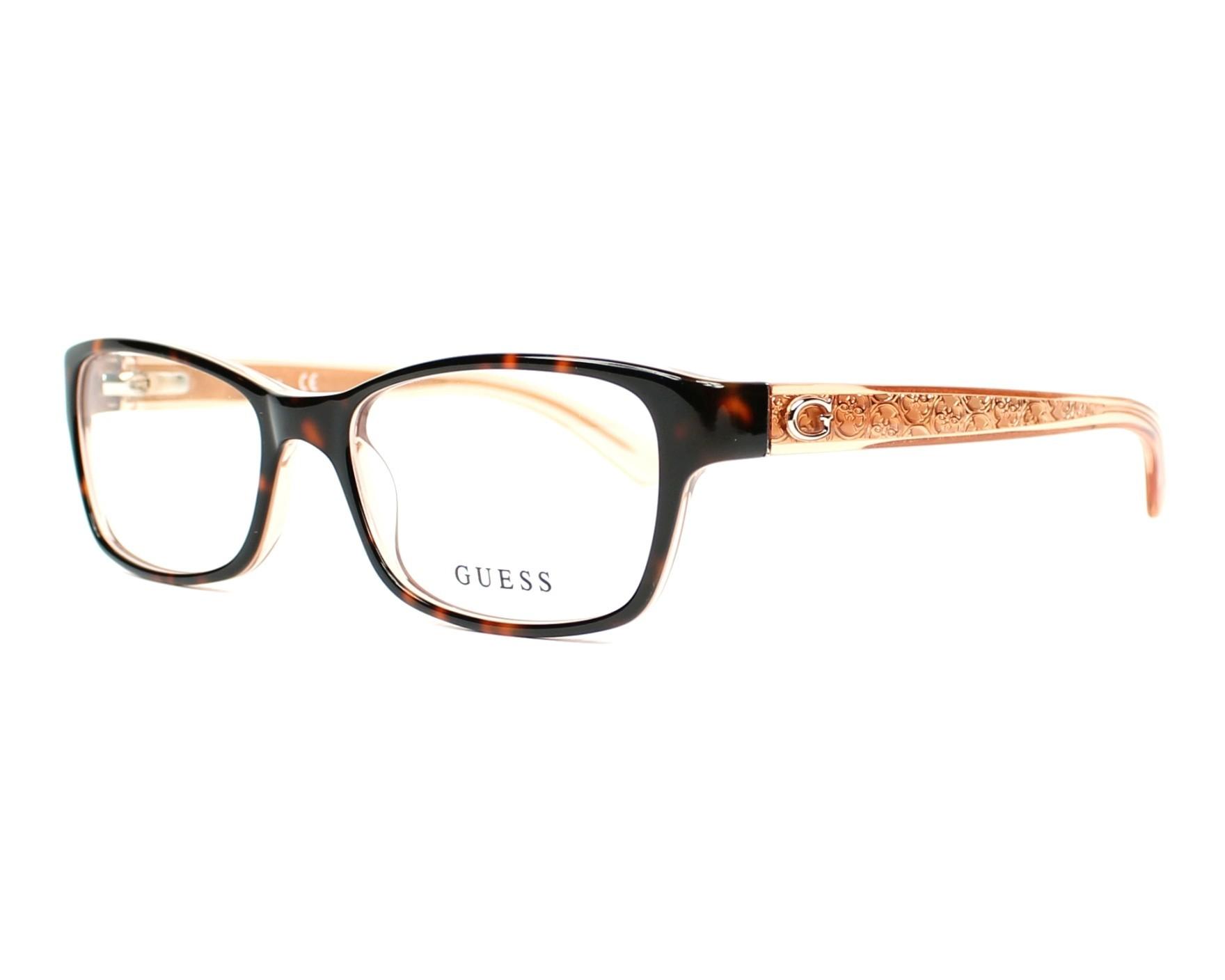 Guess Eyeglasses Havana Gu 2591 056 Visionet Us