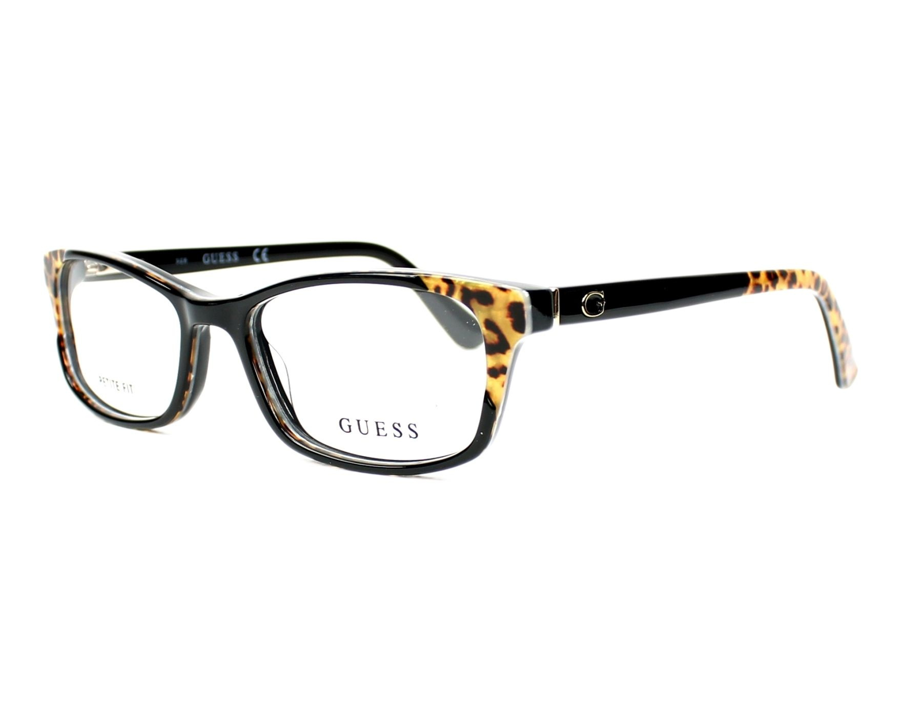eyeglasses Guess GU-2616 005 53-16 Black Brown profile view