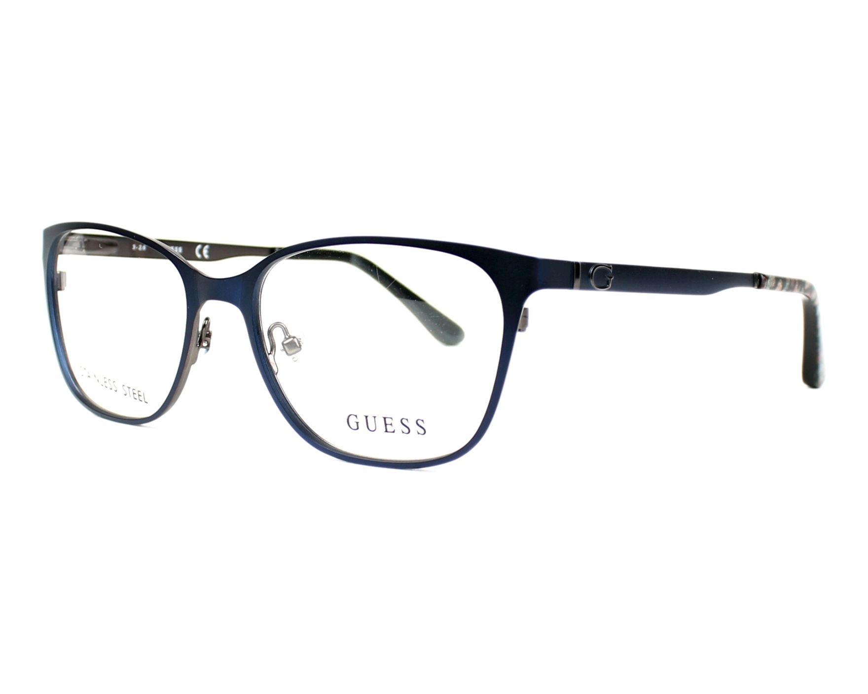 eyeglasses Guess GU-2629 091 - Blue Brown profile view