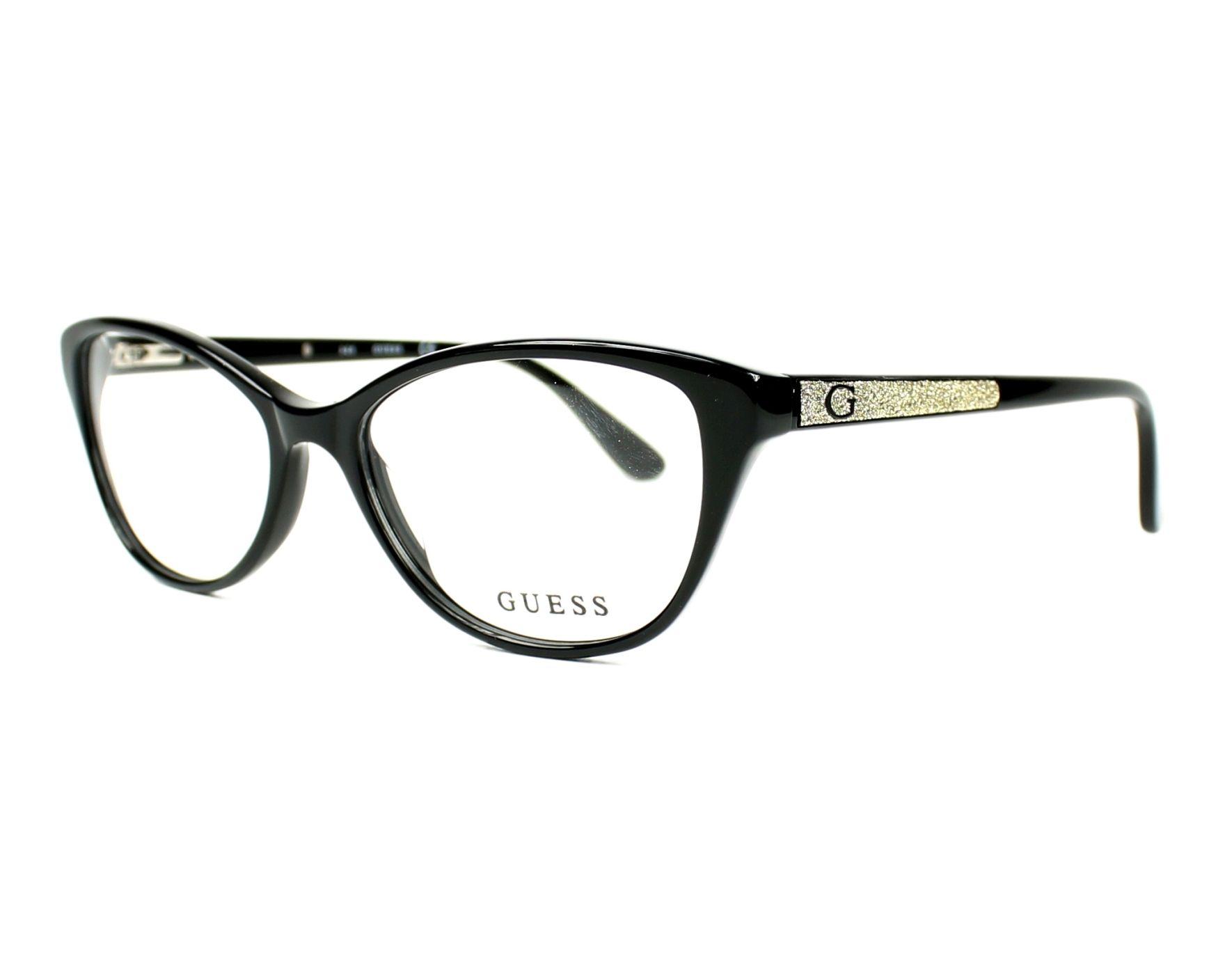 18bc46e1a4 eyeglasses Guess GU-2634 005 52-16 Black Gold profile view