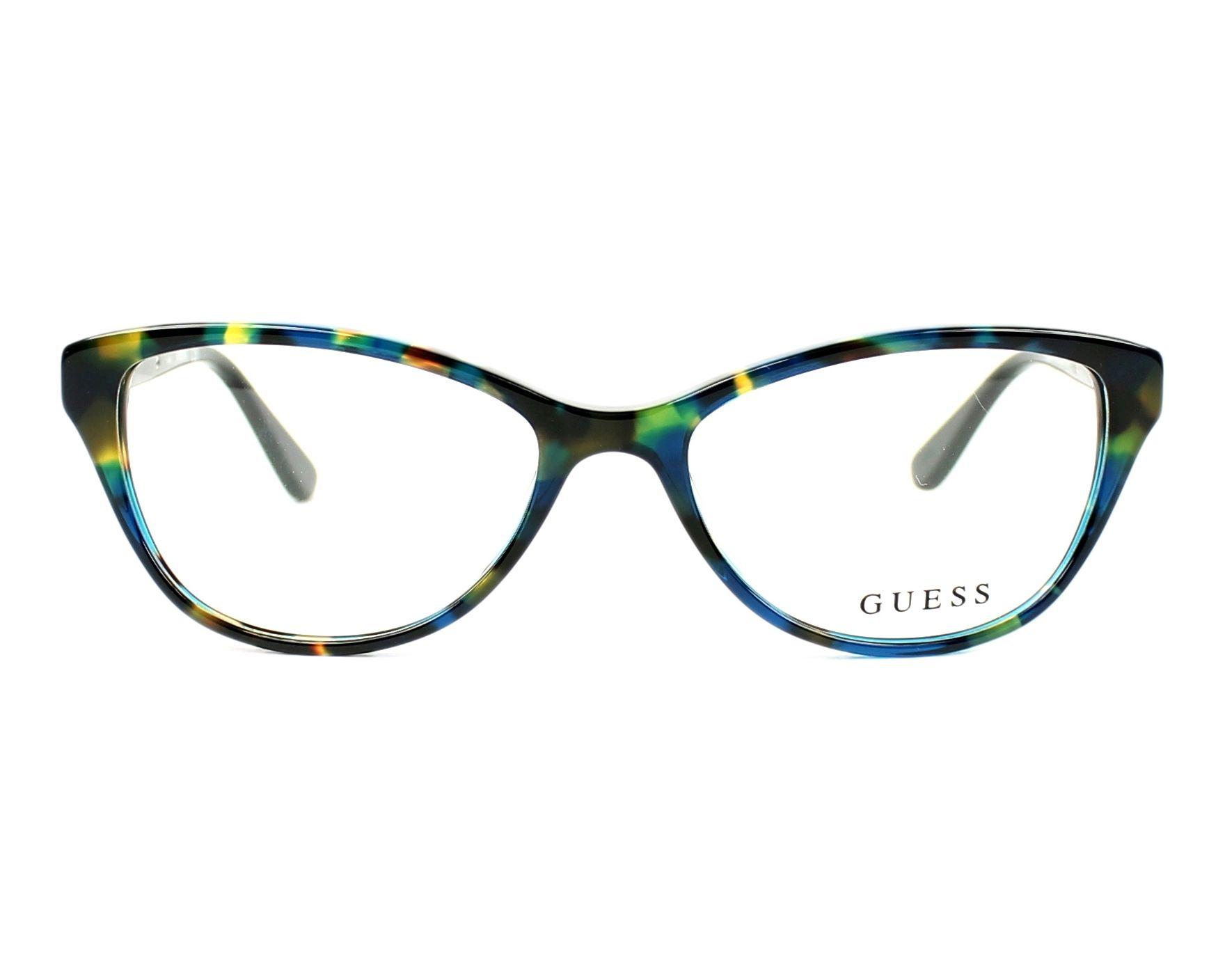 02c5c3bc9d eyeglasses Guess GU-2634 092 52-16 Blue Silver front view