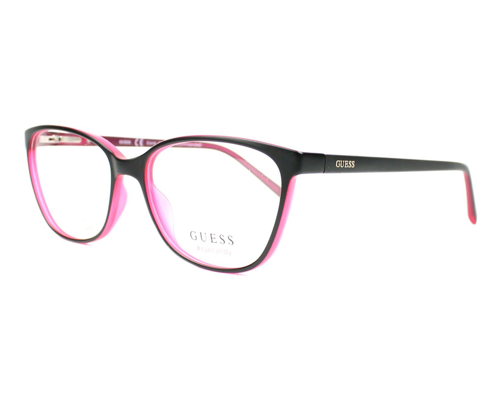 Guess Eyeglasses Black GU-3008 002 - Visionet US