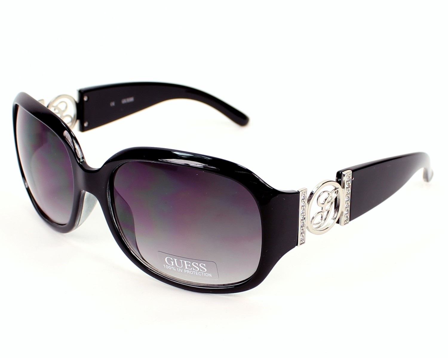 Guess Sunglasses Black With Grey Lenses Gu 7005 Blk 35 Visionet Us