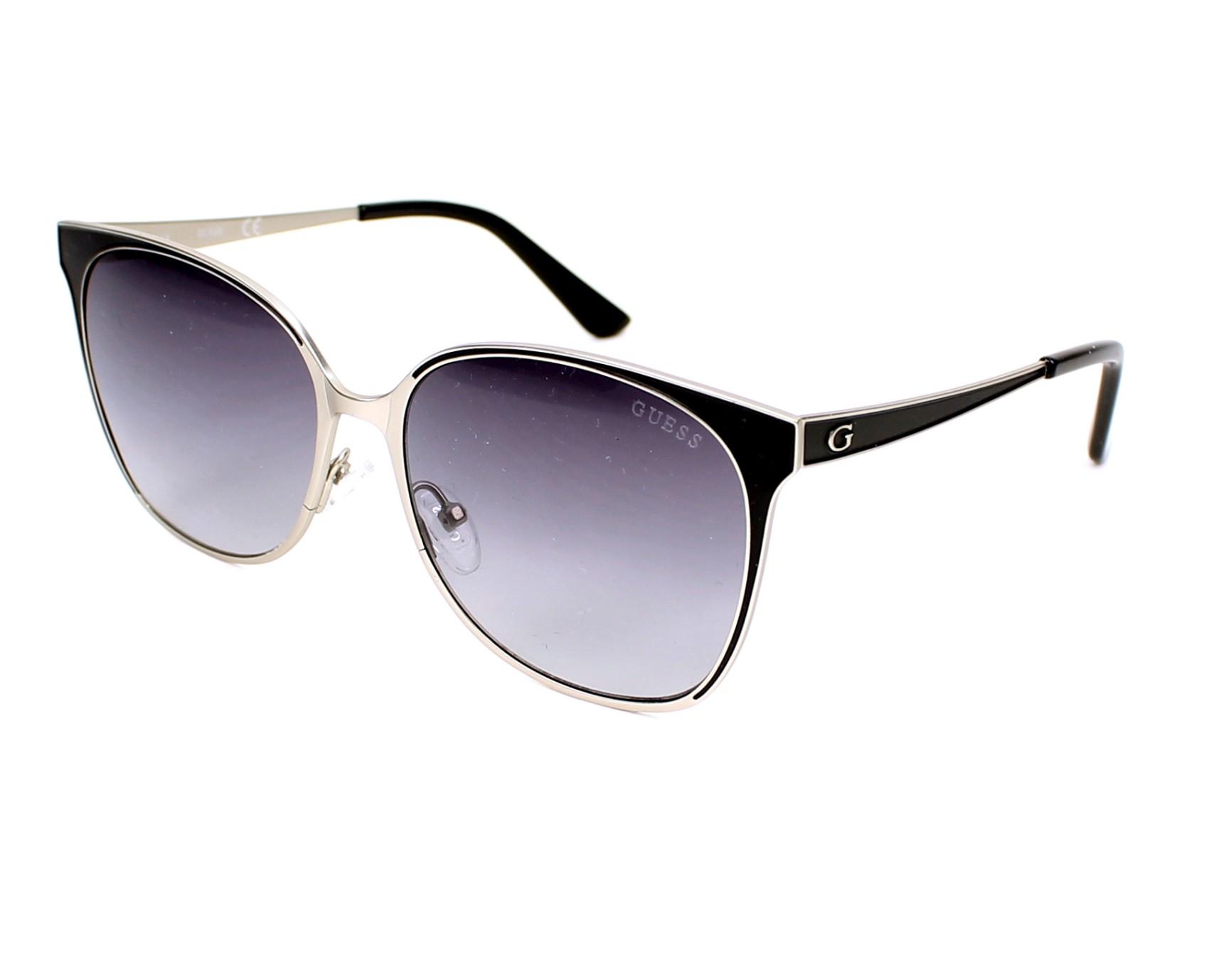 Guess Sunglasses Black With Black Lenses Gu 7458 11b Visionet Us