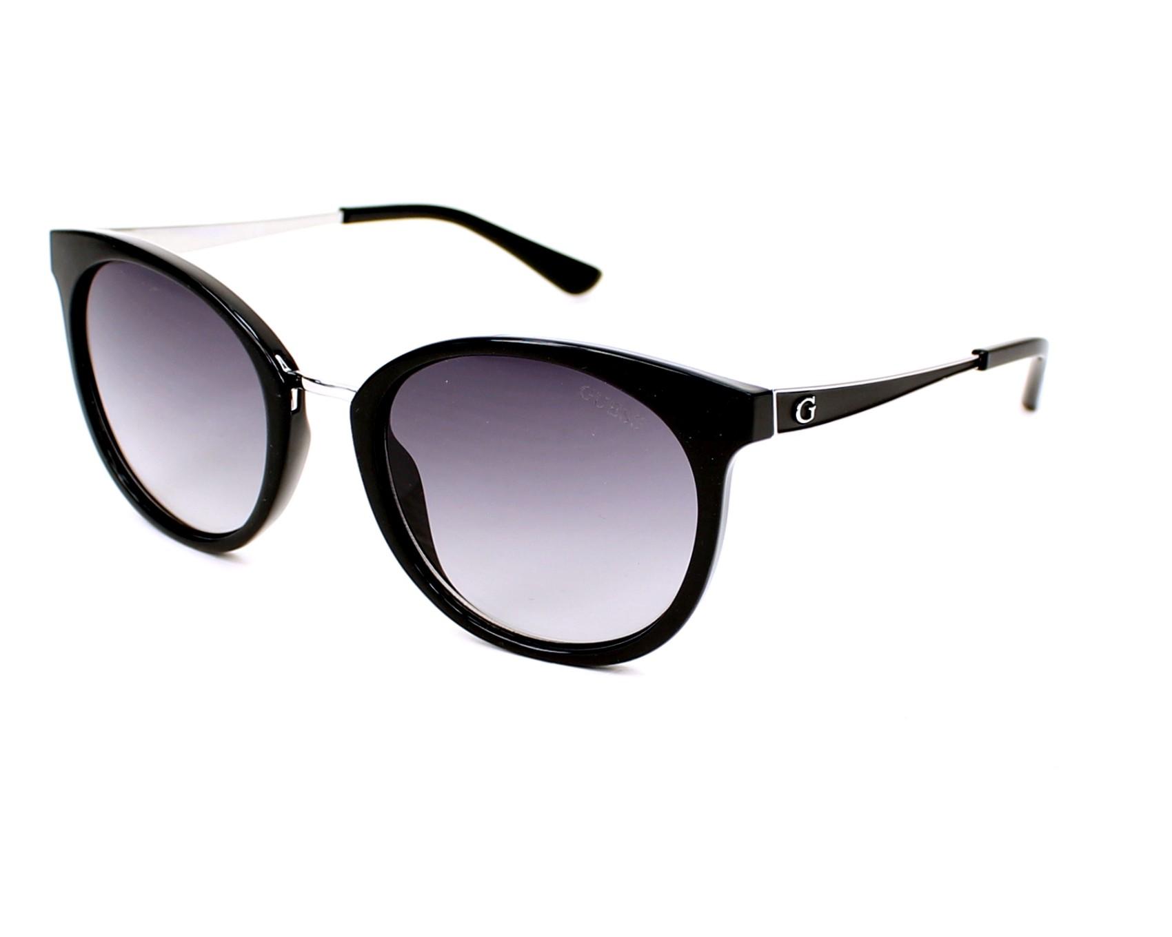 e25df31e41e Sunglasses Guess GU-7459 01B 52-20 Black Silver profile view