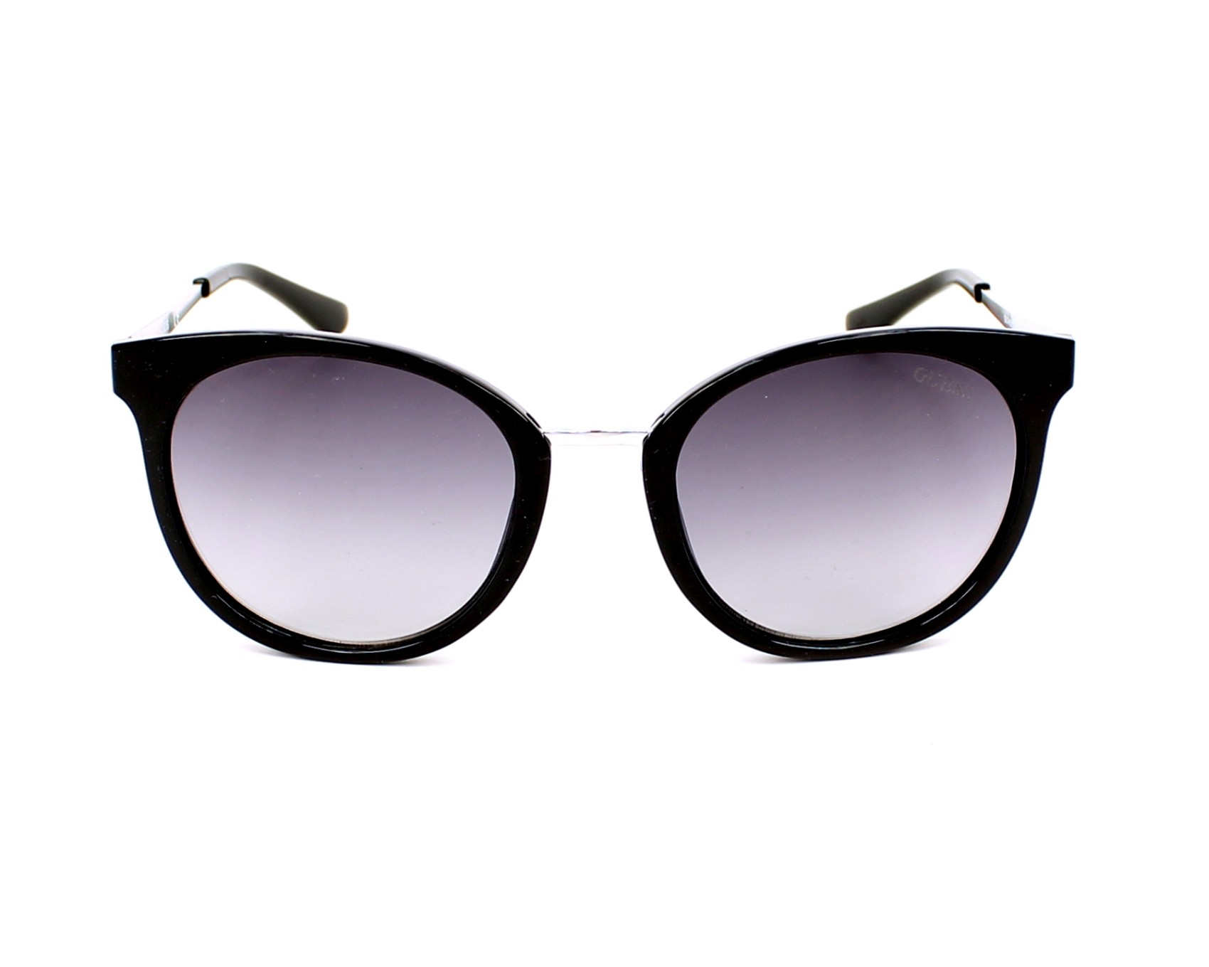 3ee99576157 Sunglasses Guess GU-7459 01B 52-20 Black Silver front view
