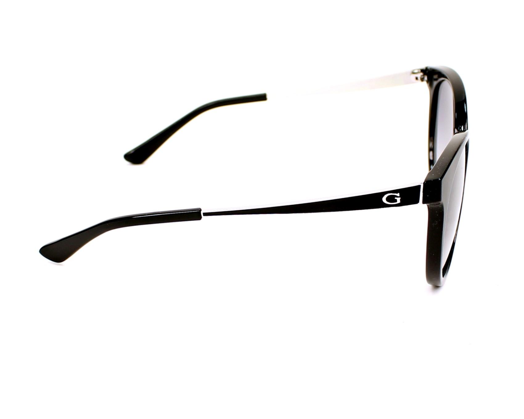 de713e156e6 Sunglasses Guess GU-7459 01B 52-20 Black Silver side view