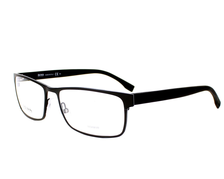 75ca45a34e eyeglasses Hugo Boss BOSS-0740 KBQ 56-17 Black Grey profile view