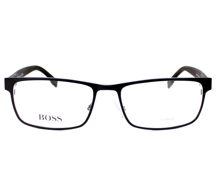 691421b394 eyeglasses Hugo Boss BOSS-0740 KBQ 56-17 Black Grey front view