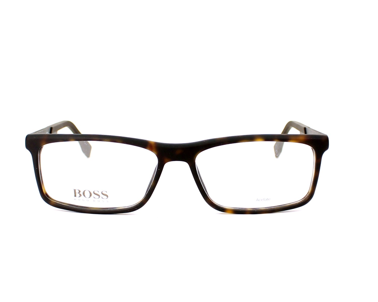eyeglasses Hugo Boss BOSS-0774 HXF 56-15 Brown Grey front view 2c6a0c4afb