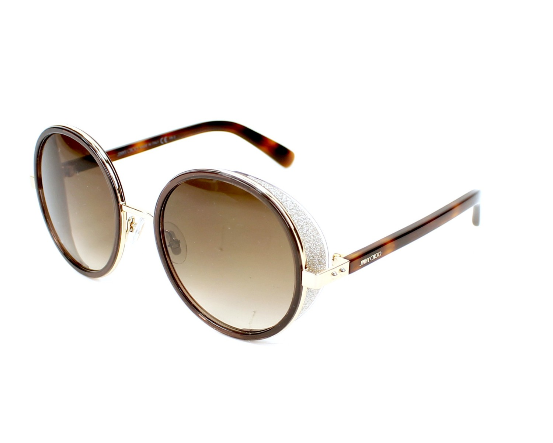 834ae676f28e Sunglasses Jimmy Choo ANDIE-S J7G JD 54-21 Havana Silver profile view