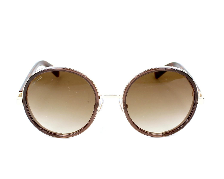 765963adeba5 Sunglasses Jimmy Choo ANDIE-S J7G JD 54-21 Havana Silver front view