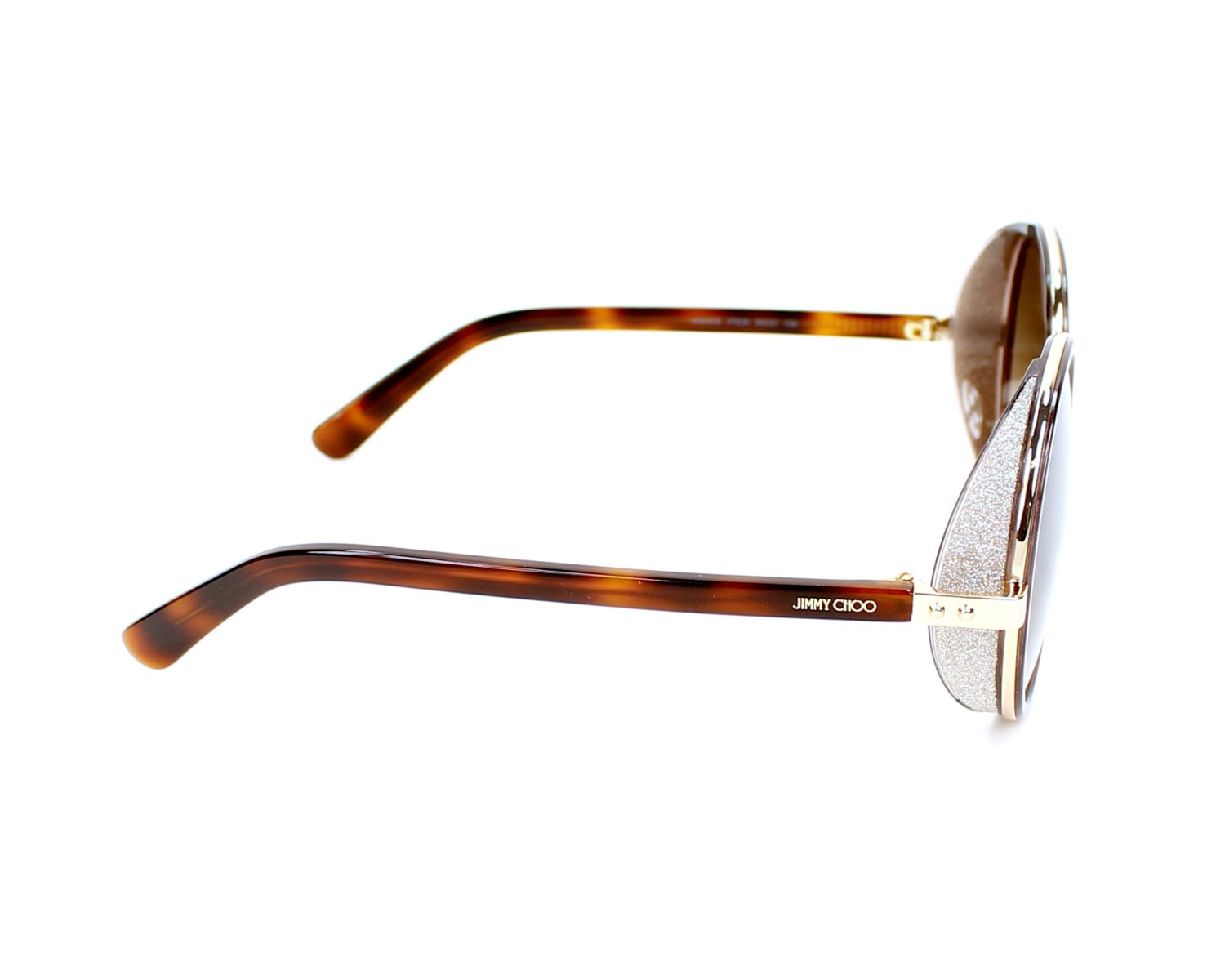3f93af90fdea Sunglasses Jimmy Choo ANDIE-S J7G JD 54-21 Havana Silver side view