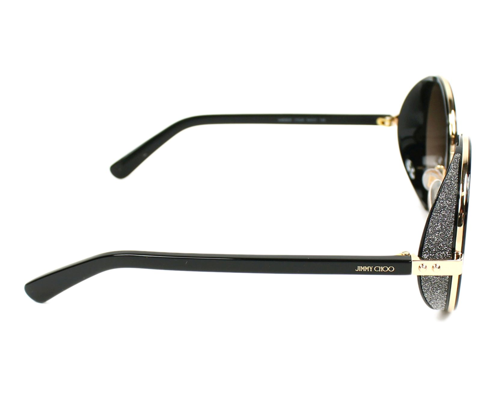 9cfd01f19f25 Sunglasses Jimmy Choo ANDIE-S J7Q J6 54-21 Black Gold side view