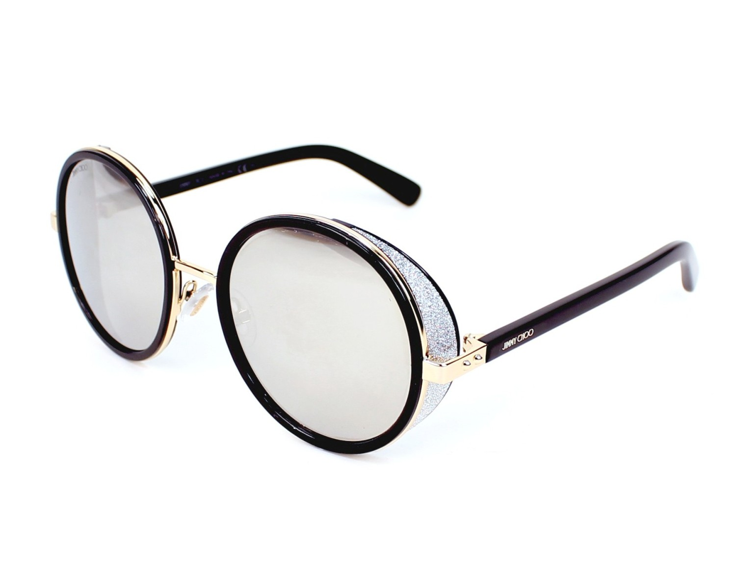 7fb09bb9e9b Sunglasses Jimmy Choo ANDIE-S J7Q M3 54-21 Black Gold profile view