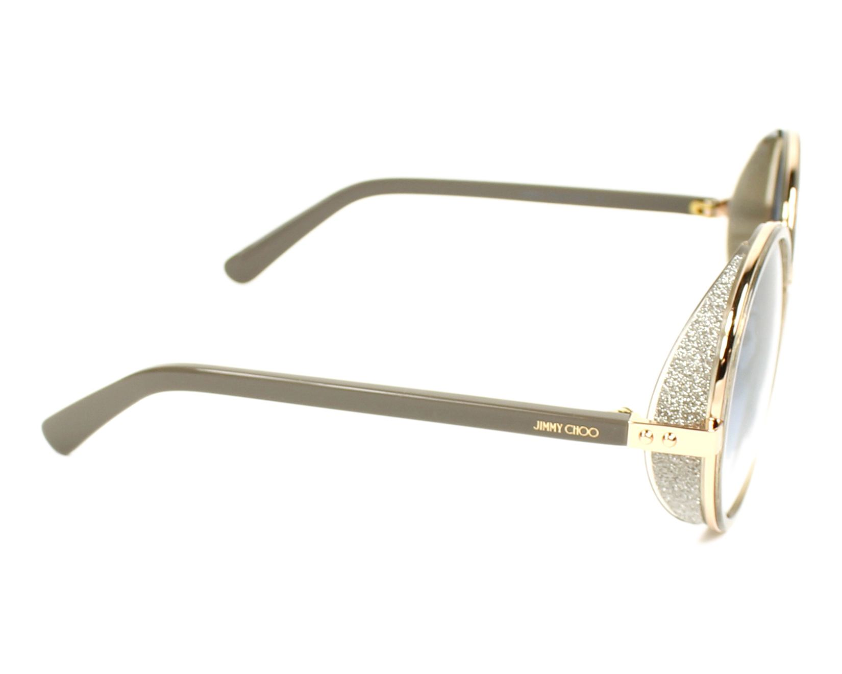 bbb1728c0bcc Sunglasses Jimmy Choo ANDIE-S S9R U3 54-21 Gold Grey side view